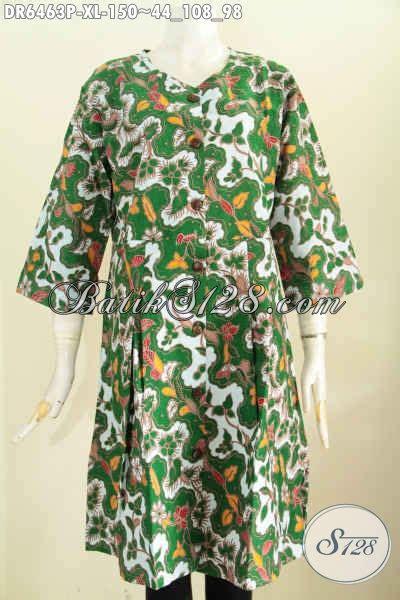 dress batik warna hijau pakaian batik solo modern produk
