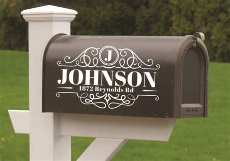 mailbox decals mailbox numbers mailbox address decal custom mailbox decal mailbox monogram