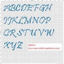 Free Alphabet Cross Stitch Patterns Fonts