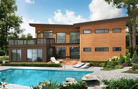 maison pr 233 fabriqu 233 e en bois contemporain 224 2 233 tages 233 cologique arizona timber block ext