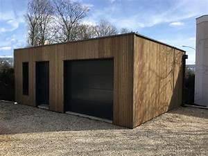 Garage Ossature Bois : garage ossature bois sur mesure de qualit garage bois ~ Melissatoandfro.com Idées de Décoration