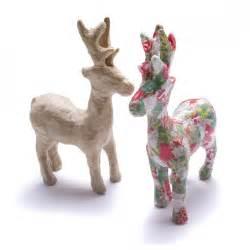 decopatch paper mache reindeer decopatch and paper mache from crafty crocodiles uk
