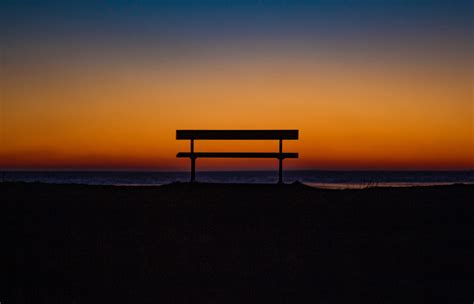 bench sky horizon wallpaper
