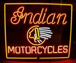Indian Motorcycles Neon Bar Sign Light