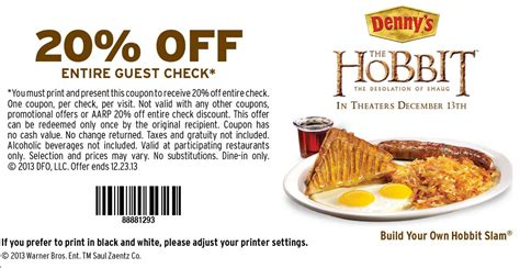 Bob evans wants to help you out this holiday season! Denny's: 20% off Entire Check Coupon - Hunt4Freebies