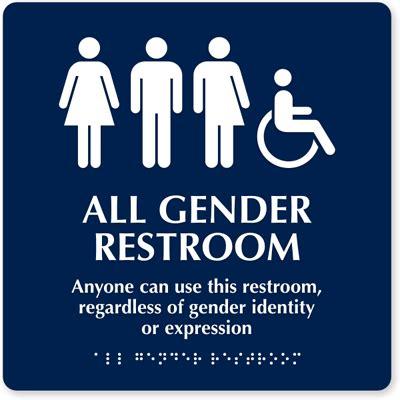 Gender Inclusive Bathroom Sign by Philadelphia Makes Gender Neutral Restrooms The
