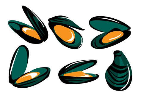 clipart vector mussel vector free vector stock graphics