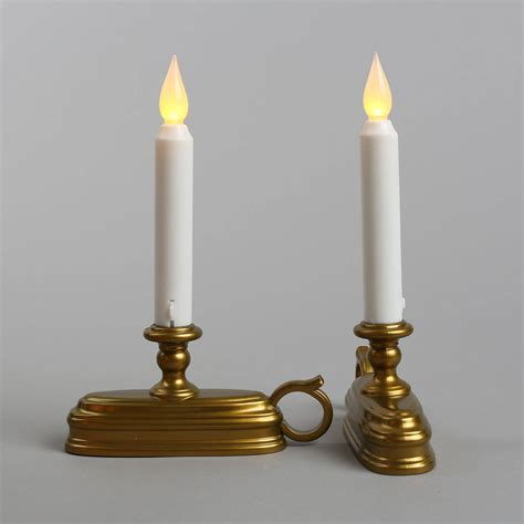 lights com flameless candles window candles white 9
