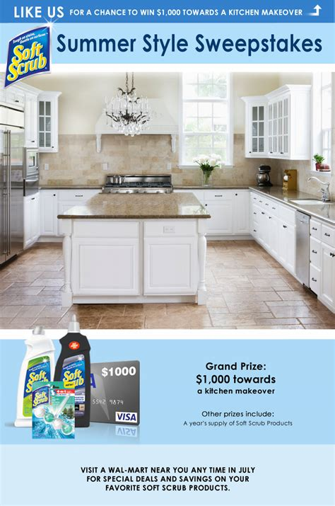 win a kitchen makeover 2014 soft scrub summer style sweepstakes ends 7 31 thrifty 1901