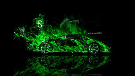 lamborghini sesto elemento fire abstract car  el tony