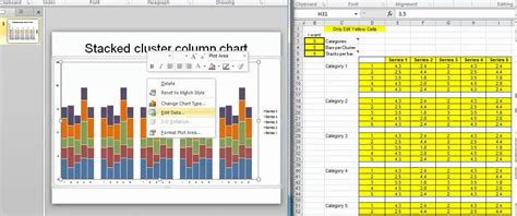 exceltheorycom stacked cluster column template youtube