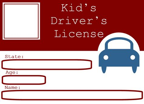 preschool license california blank driver s license template for who want to 260