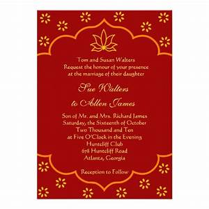 Modern indian wedding invitation 5quot x 7quot invitation card for Modern indian wedding invitations wordings