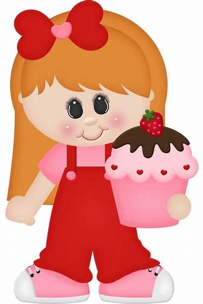 Clipart Clip Valentine Meninas Bonecas Dibujos Sweet