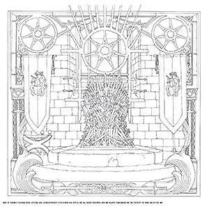 juego de tronos  colorear libro imagen adicional