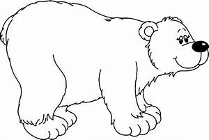 black and white polar bear clipart - Clipground