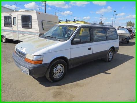 old car owners manuals 2001 dodge caravan electronic valve timing 1993 dodge grand caravan le used 3 3l v6 12v automatic minivan van no reserve for sale dodge