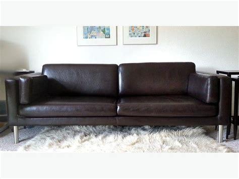 ikea black leather sofa ikea faux leather sofa  sandwell