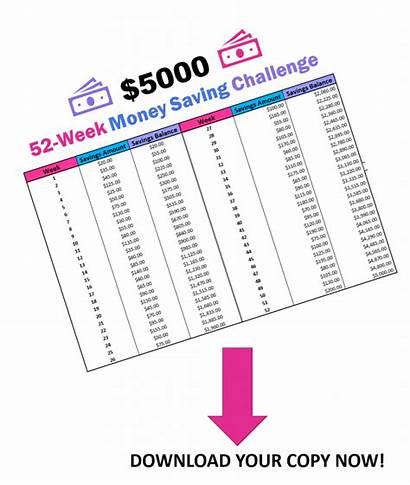 Challenge Money 52 Week Saving 5000 Printable