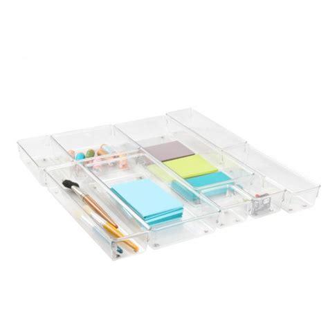 organiseur bureau petit organiseur de tiroir en acrylique rangement bureau