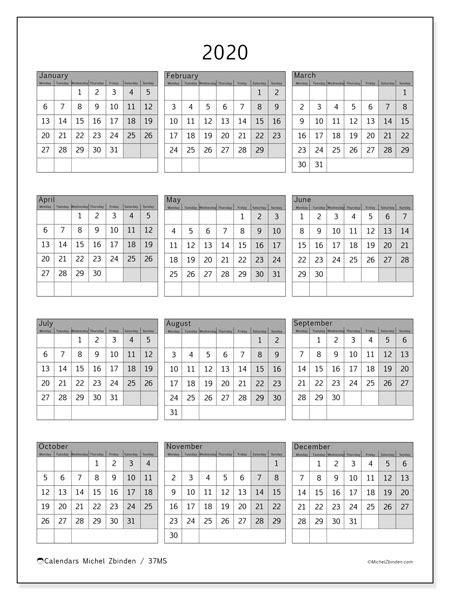 annual calendar  ms michel zbinden en