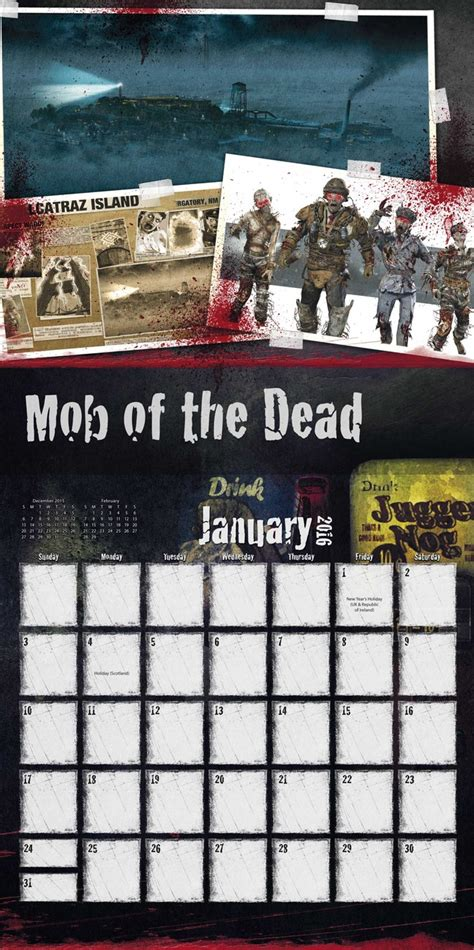 call duty zombies calendars ukpostersukposters