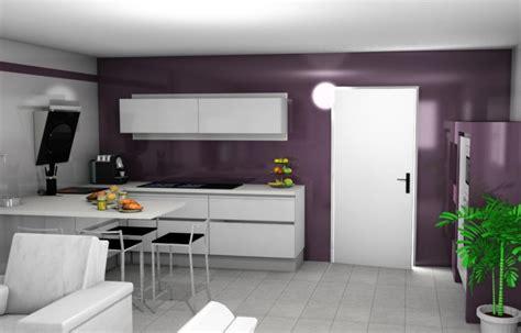 cuisine blanche mur aubergine votre avis sur mon projet de cuisine