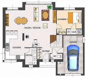 Plan Maison 1 Chambre 1 Salon : construction maison neuve magnolia lamotte maisons ~ Premium-room.com Idées de Décoration