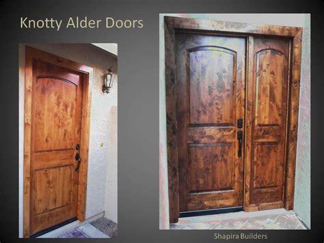 knotty alder wood doors shapira builders