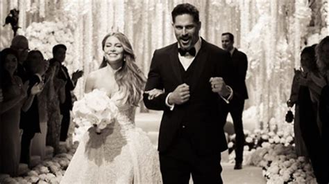 sofia vergara wedding sofia vergara joe manganiello share wedding photos to
