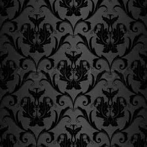 Papier Peint Baroque Noir Velour by Seamless Black Wallpaper Pattern Stock Photo Colourbox