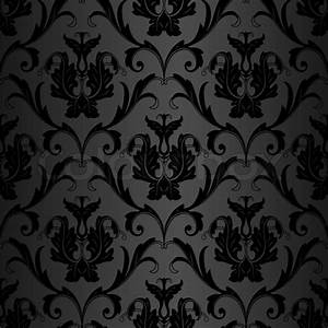 Seamless black wallpaper pattern Stock Photo Colourbox