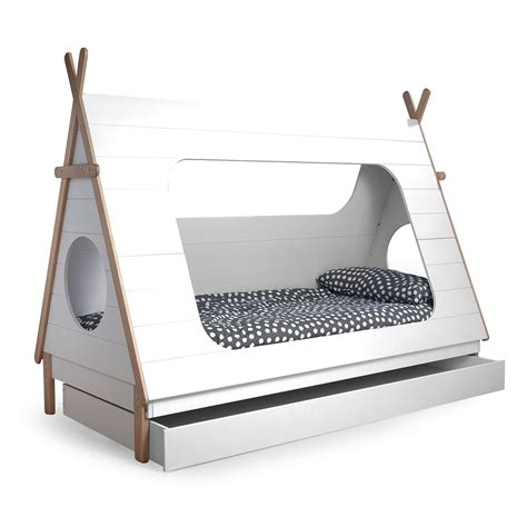 bunk beds with desk teepee cabin bed trundle drawer woood cuckooland