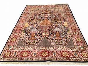 remarquable tapis persan kirman mille fleur 302x216 cm With tapis mille fleurs