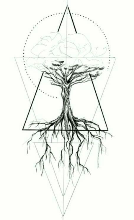 geometric tattoo tree geometric geometric tattoo tree