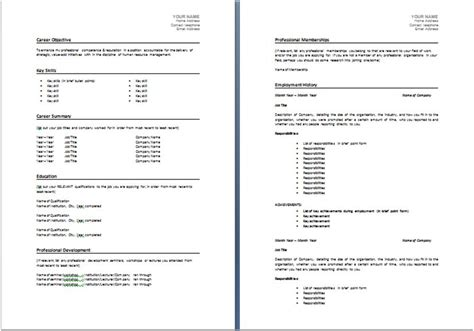 resume template  resume australia