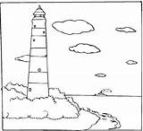 Lighthouse Coloring Pages Printable Sheets Sheet Sea sketch template