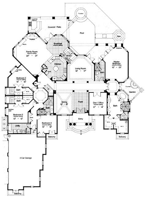 luxury master suite floor plans first floor plan of florida luxury mediterranean house plan 63079 i the master bedroom