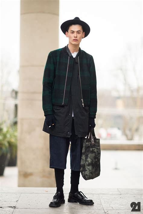 korean male model showing us his cool layered up outfit