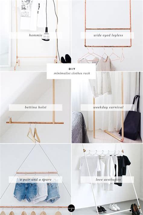 Minimalist Bedroom Diy by Diy Minimalist Clothes Rack Diy Diy Clothes Rack Diy
