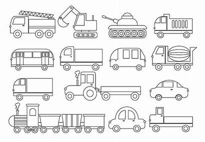 Coloring Truck Cars Trucks Bus Camion Vehicle