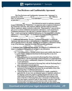 sle non disclosure agreement confidentiality agreement sle d i y everything non d