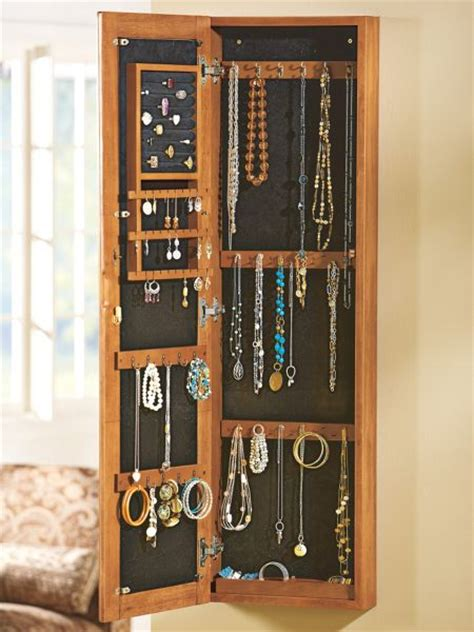 jewelry cabinet wall mount mirror jewelry cabinet solid wood wall mounted organizer