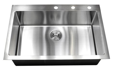 Stainless Steel Kitchen Sink by 33 Inch Top Mount Drop In Stainless Steel Single Bowl
