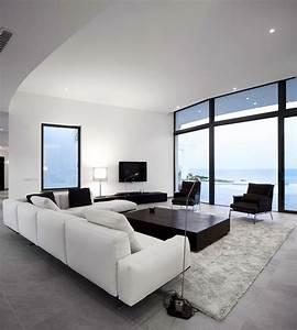 30, Black, U0026, White, Living, Rooms, That, Work, Their, Monochrome, Magic