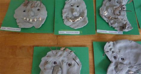 preschool clay masks with stick shells preschool 942 | 4e9c25e1d6ce6941b5402c8da18f21a0