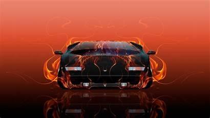 Lamborghini Fire Countach Tony Cars El Abstract