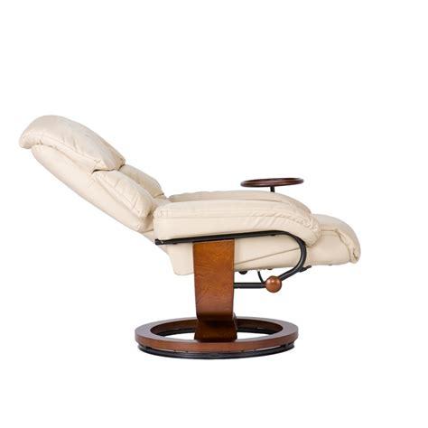 bonded leather birch u base swivel glider oversized