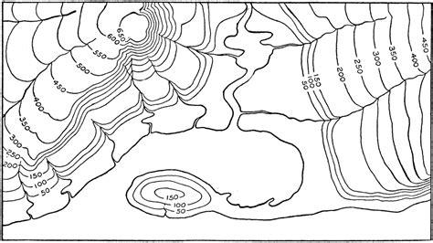 shoreline contour map clipart