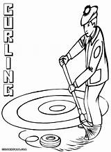 Curling Coloring Pages Coloringway Colorings sketch template